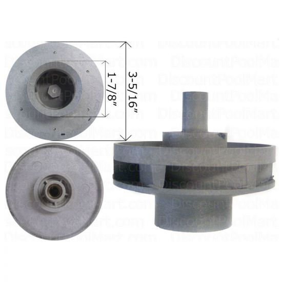 WATERWAY, Impeller 3/4 HP 310-3990, WAT310-3990