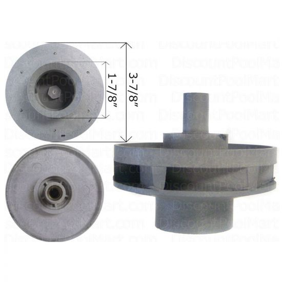 WATERWAY, Impeller Assembly For 1.5 HP Hi-Flo Side Discharge Pump 310-4010, WAT310-4010