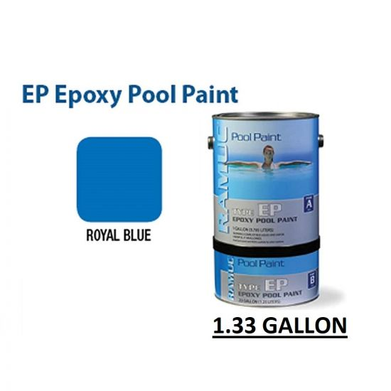 RAMUC EP Epoxy High Gloss Epoxy Royal Blue Pool Paint, RAM908132901