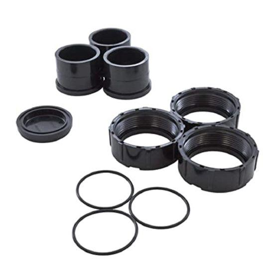 Jandy, DEV Filters, Half Union Set of 3 & Drain Plug Cap, R0461800