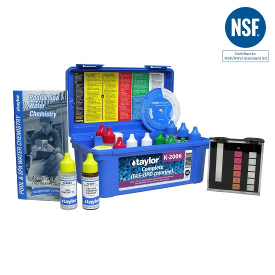 Taylor, Complete Kit for Chlorine, pH, Alkalinity, Hardness, CYA, K-2006