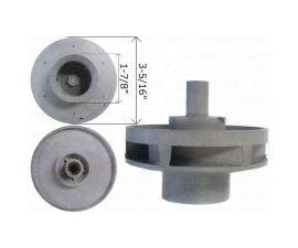 WATERWAY, Impeller Assembly For 1 HP Hi-Flo Side Discharge Pump or 313-1440, WAT310-4000