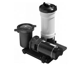 Waterway TWM Above Ground Pool Motor Cartridge Filter System, 1 HP Pump and 50 sq/ft Filter, Includes 2 Hoses, 520-3010