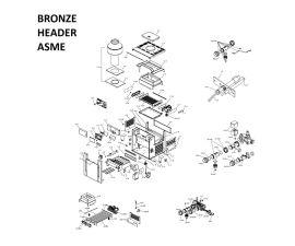 Low Nox 406A Bronze Headers ASME Heater Parts