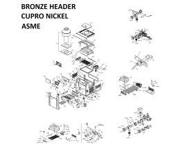 Low Nox 407A Bronze Cupronickel Headers ASME Heater Parts