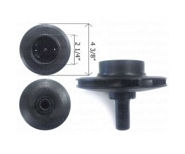 PENTAIR, IMPELLER FOR Sta-Rite DYNA-GLAS 2.5HP, C105-236PEA
