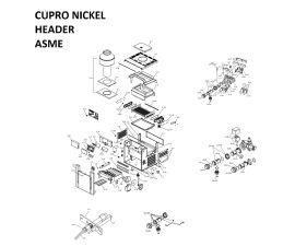 Low Nox 407A Cupronickel Headers ASME Heater Parts