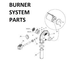 JXI400PN Burner System Parts