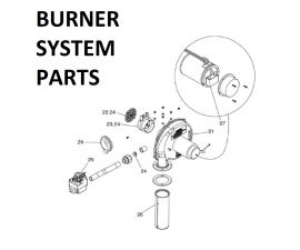 JXI400NN Burner System Parts