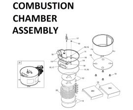 JXI200N Combustion Chamber Assembly Parts
