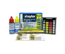 Taylor, 3-Way Test Kit for Total  Chlorine, Bromine, pH (OTO), K-1000
