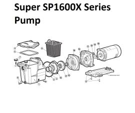 Super SP1600X Series Pump Parts