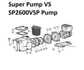 Super Pump VS SP2600VSP Pump Parts
