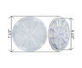"""Val-Pak, Wet Industries 6"""" Clear Lid 6 1/2"""" 